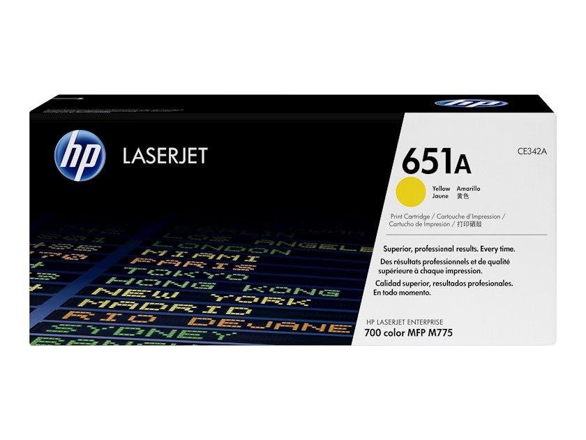 Kartric HP 651A CE342A Sarı