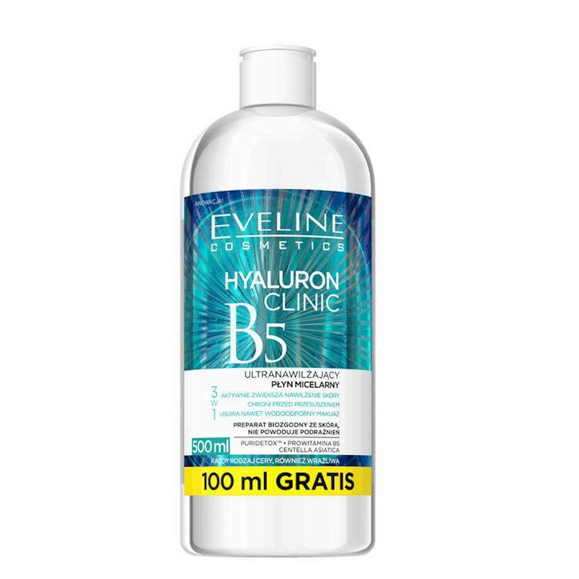 Misellyar su Eveline Cosmetics Hyaluron Clinic B5, 3-ü 1-də Ultra nəmləndirici