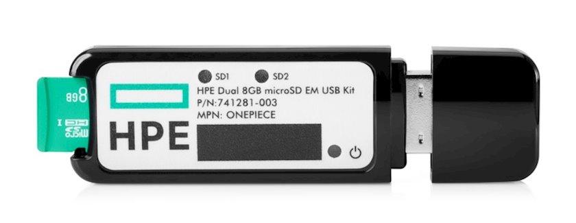 Fləş kart HPE Dual 8Gb microSD EM USB Kit