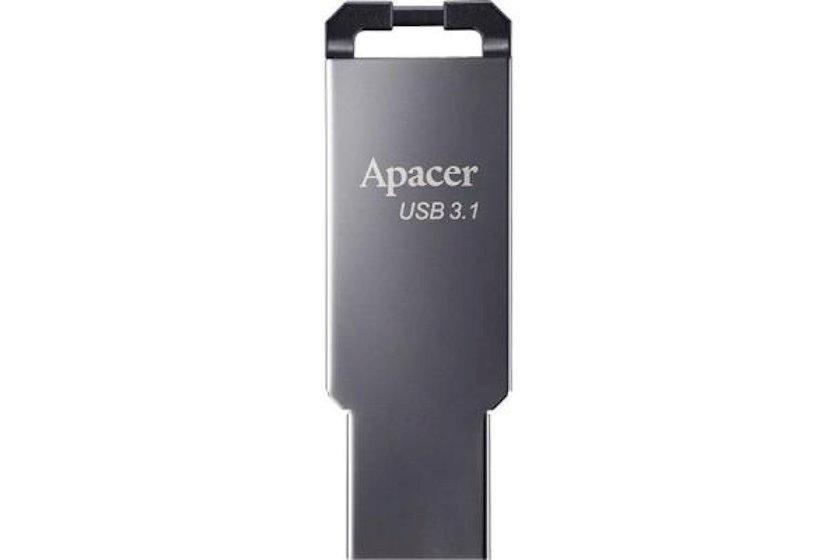 Fləş kart Apacer USB 3.1 Gen1 AH360 Black Nickel 64 Gb
