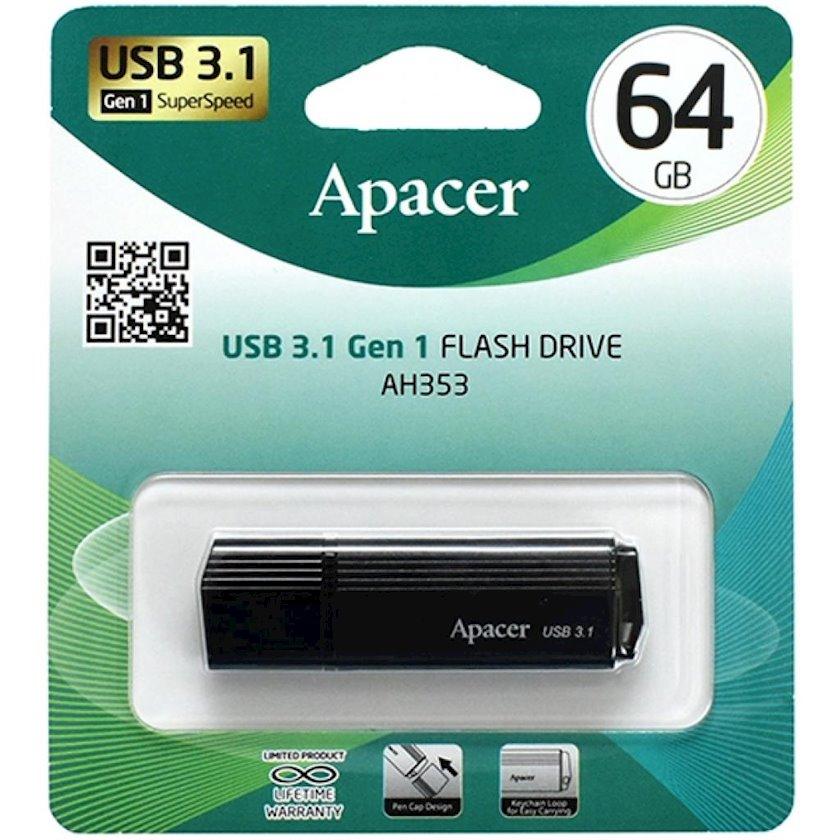 Fləş kart Apacer USB 3.1 Gen1 AH353 Black 64 Gb