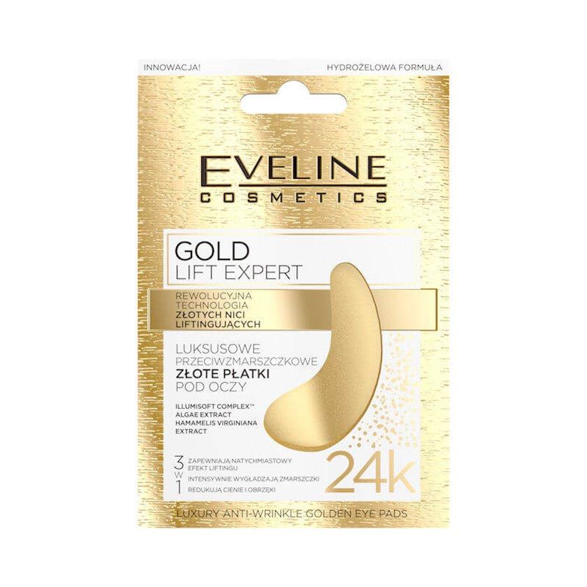 Göz üçün patçlar Eveline Cosmetics Gold Lift Expert Luxury Anti-Wrinkle Golden