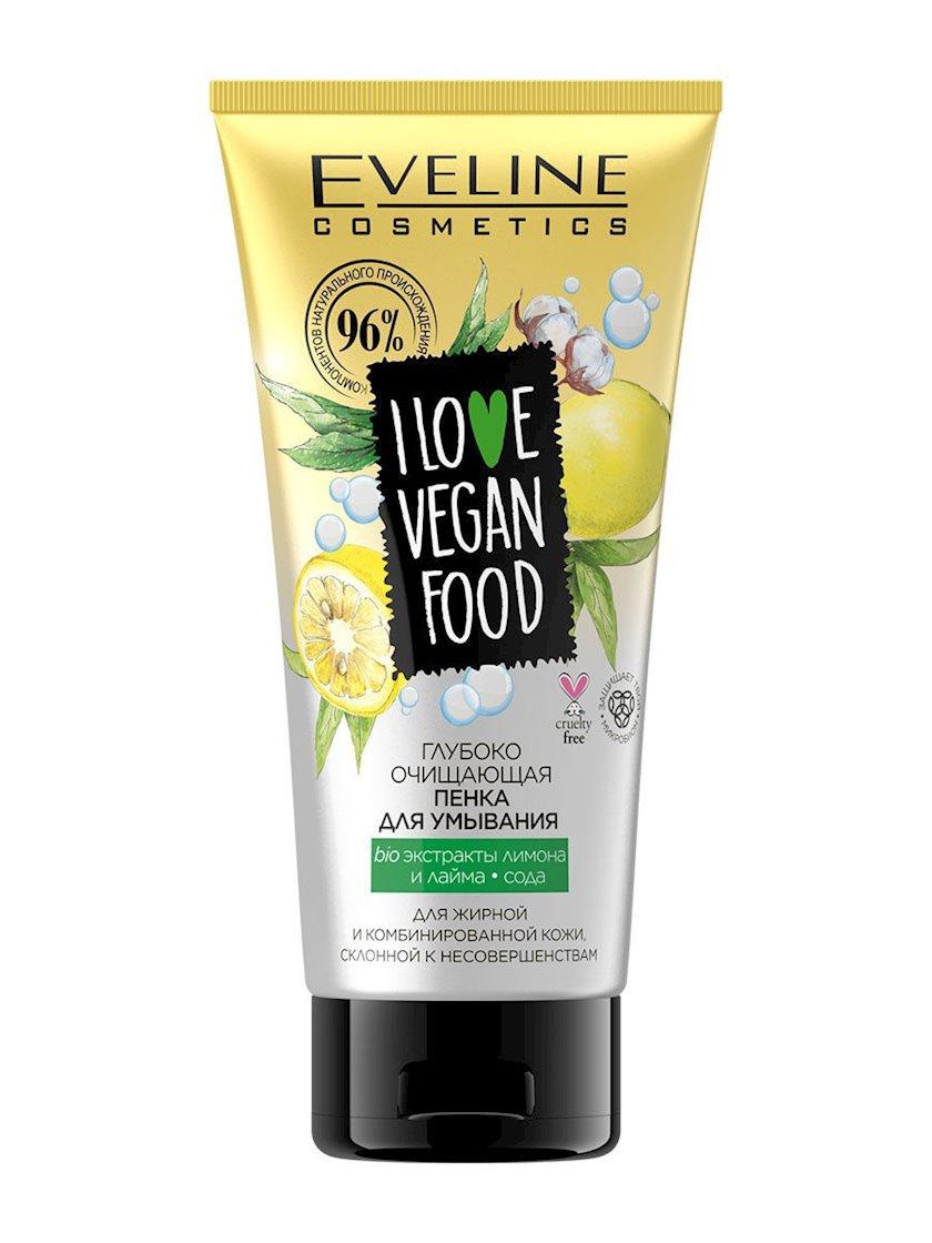 Yuyunma üçün köpük Eveline Cosmetics I Love Vegan Food Face Wash Gel, təravətləndirici və təmizləyici