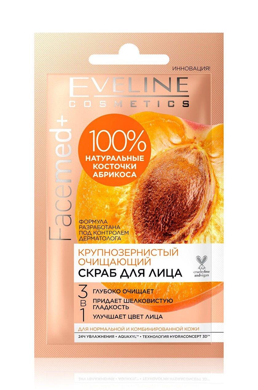 Təmizləyici skrab üz üçün  Eveline 3-ü 1-də Facemed+, iri dənli 7 ml
