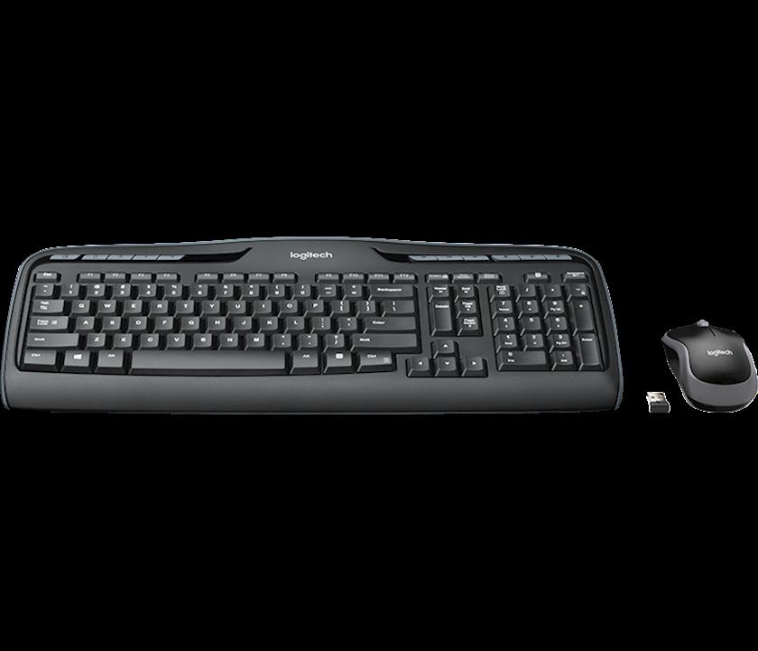 Simsiz klaviatura və kombinə edilmiş siçan LOGITECH Wireless Combo MK330 - Russian layout