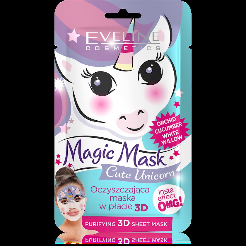 Maska üz üçün Eveline Cosmetics Magic Mask Cute Unicorn Təmizləyici