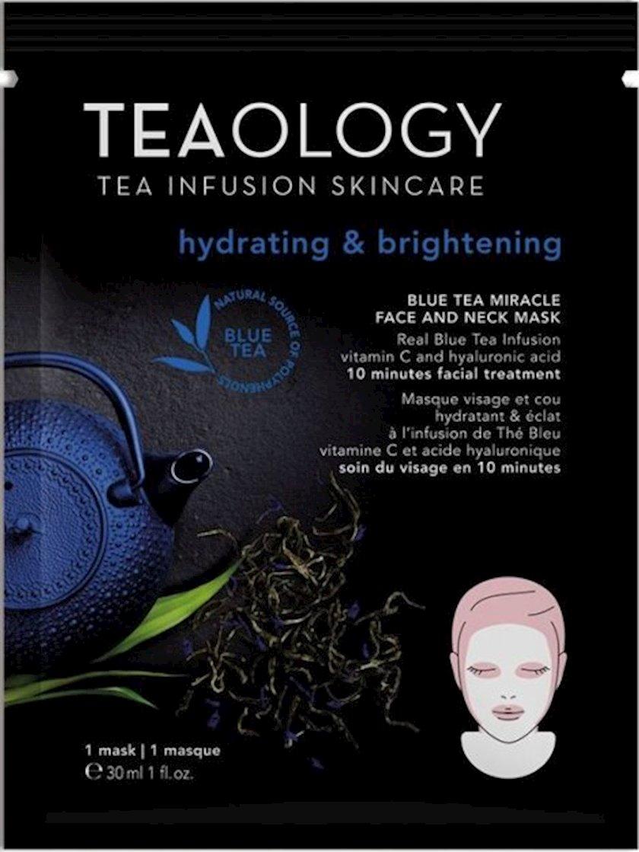 Üz və boyun üçün parça maska Tealogy Blue Tea, 30 m