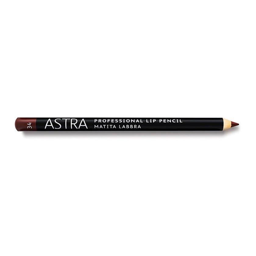 Dodaq üçün qələm Astra Make-up Professiona Lip Pencil 34 Marron Glace Lips 1.1 q