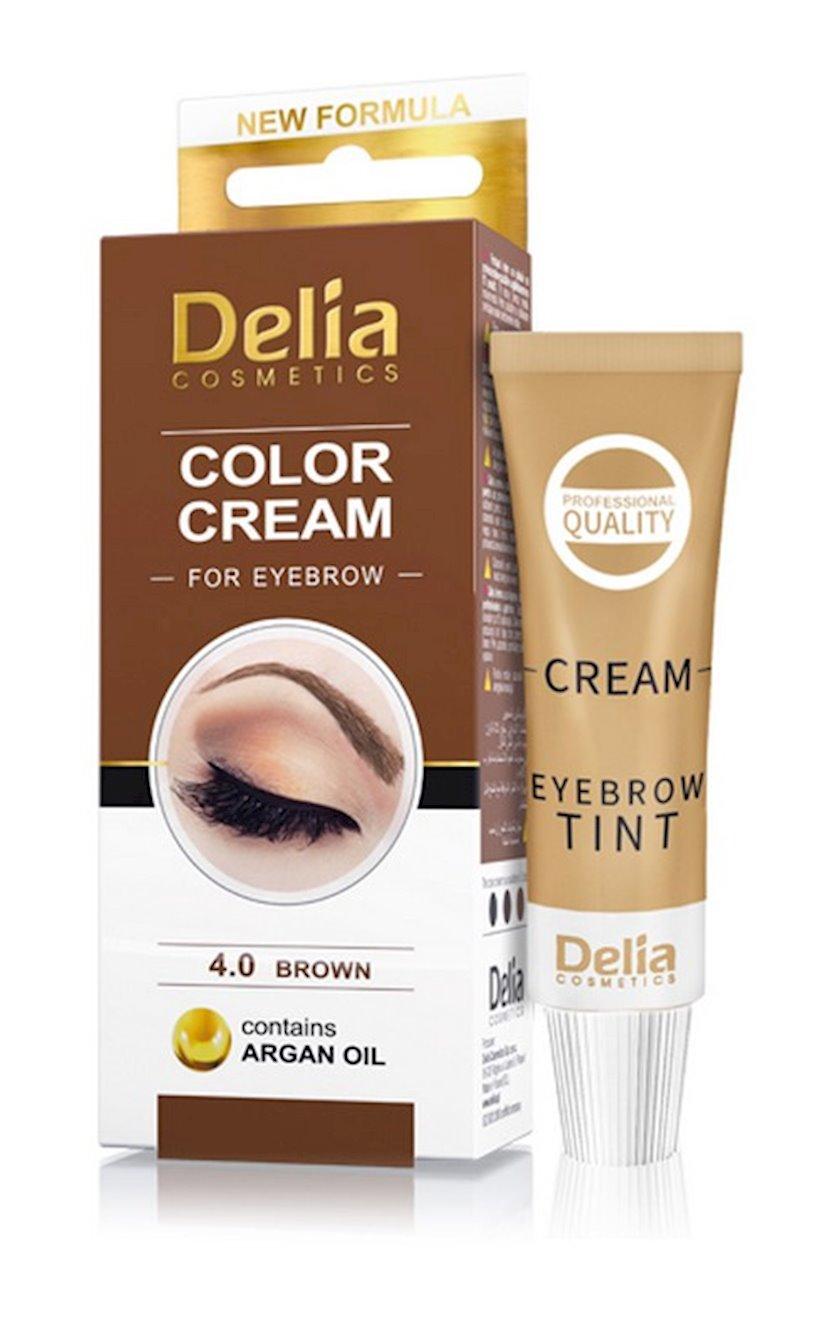 Qaş üçün krem-boya Delia Cosmetics arqan yağı ilə 4.0 Qəhvəyi 15 ml
