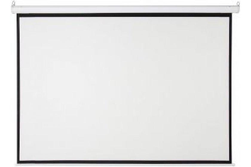 """Proyeksiya ekranı Cyber Manual Screen (70""""x70"""")180x180sm, White matt 3D M180"""