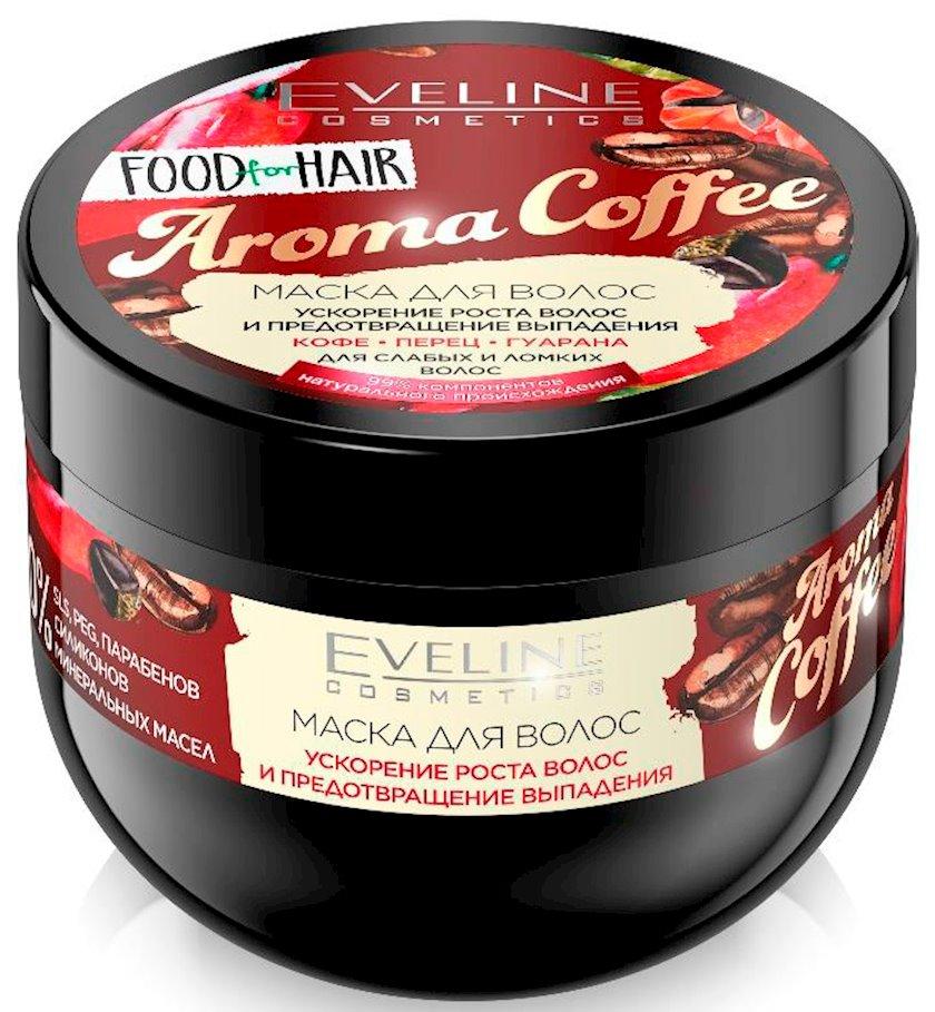 Saç maskası Eveline Food For Hair Aroma Coffee 500 ml