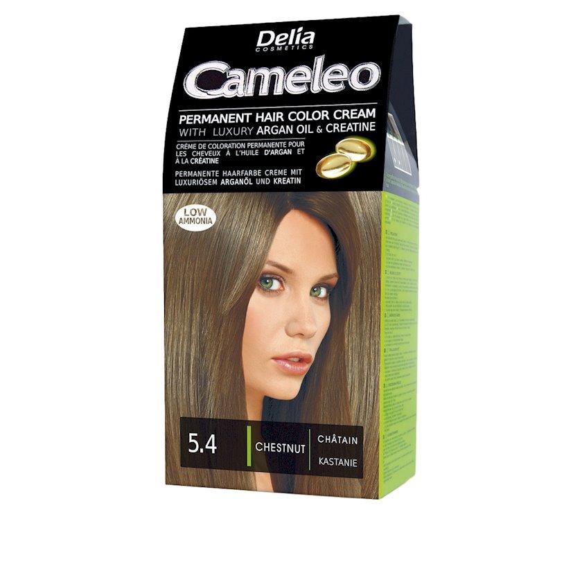 Saç üçün krem-boya Delia Cosmetics Cameleo Permanent Hair Color Cream  Arqan yağı ilə çalar  5.4 Şabalıdı 50 ml