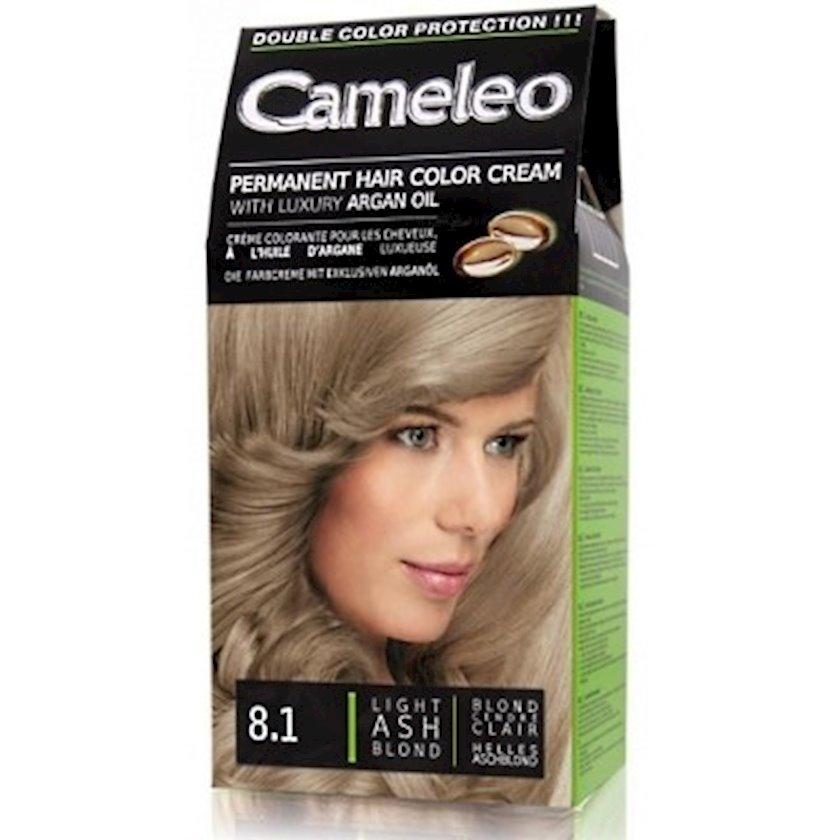 Saç üçün krem-boya Delia Cosmetics Cameleo Permanent Hair Color Cream  Arqan yağı ilə çalar 8.1 Açıq kül sarışın 50 ml