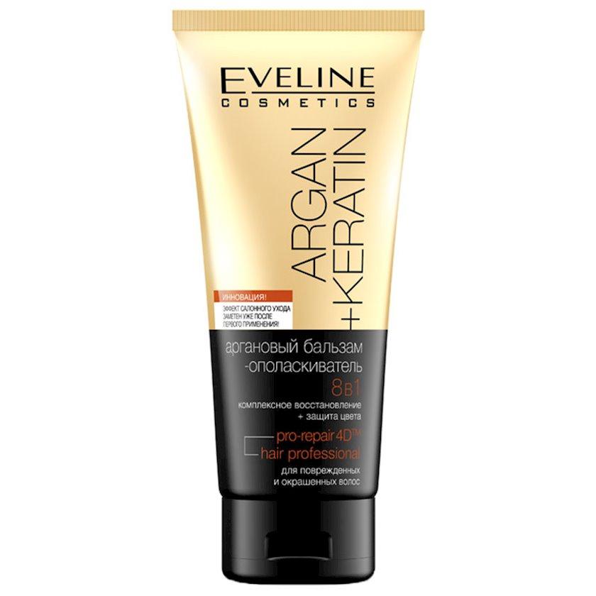 Argan + keratin Balzam-yaxalama Eveline Cosmetics 8in1 Boyanmış saçlar üçün 200ml