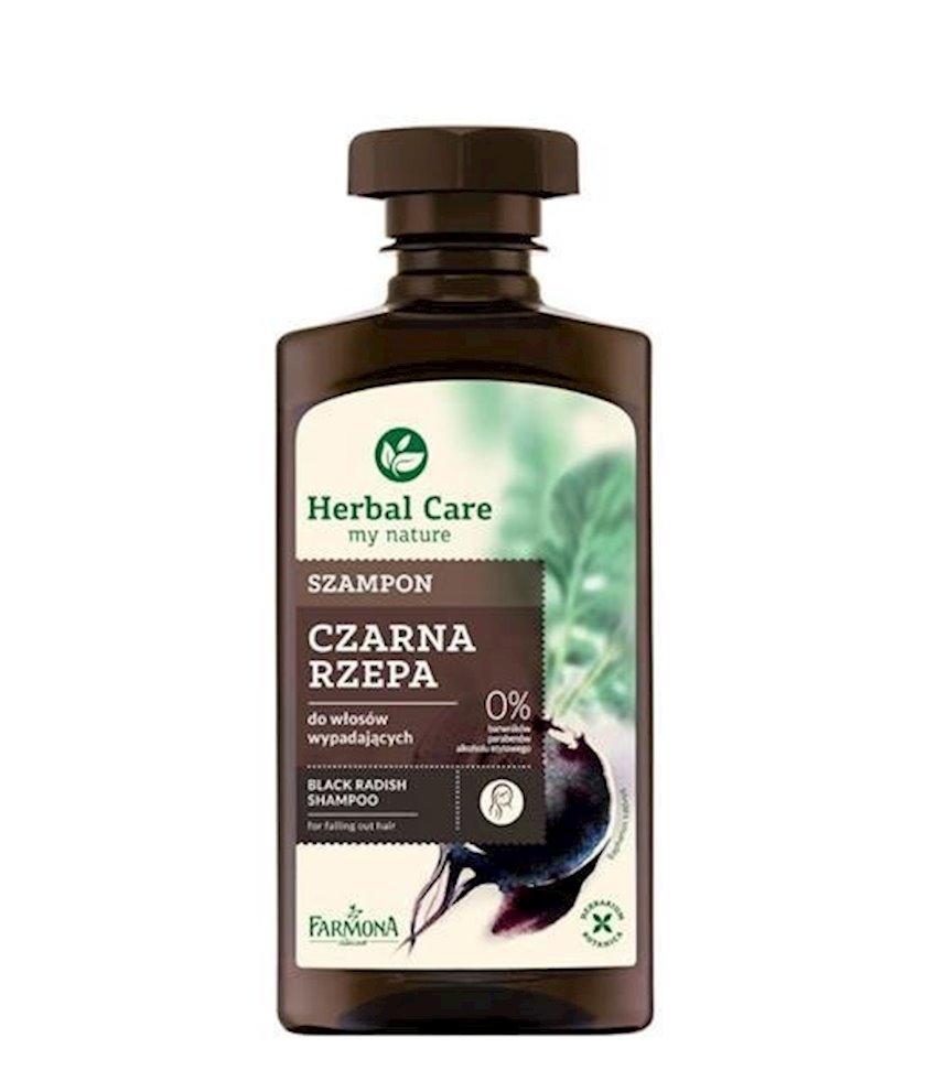 Zəyif və tökülən saçlar üçün şampun Farmona Herbal Care Qara Turp 330ml