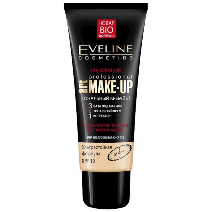 Tonal krem Eveline Art Professional Make-Up 3-ü 1-də Fil sümüyü 30 ml