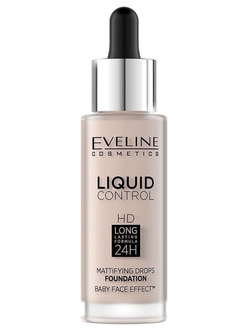 Maye tonal baza Eveline Liquid Control HD Mattifying Drops Foundation 05 Ivory 32 ml