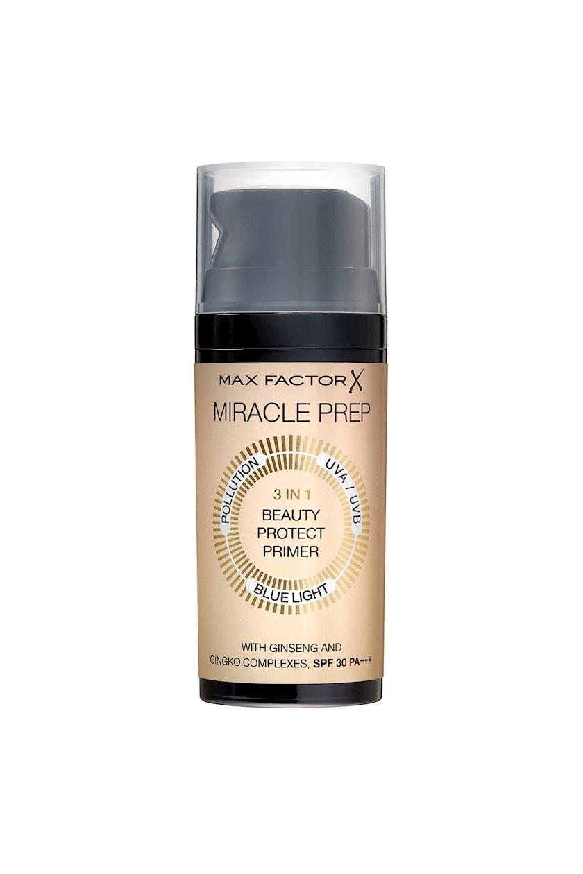 Üz üçün praymer Max Factor Miracle Prep 3 in 1 Beauty Protect Primer SPF 30 PA+++