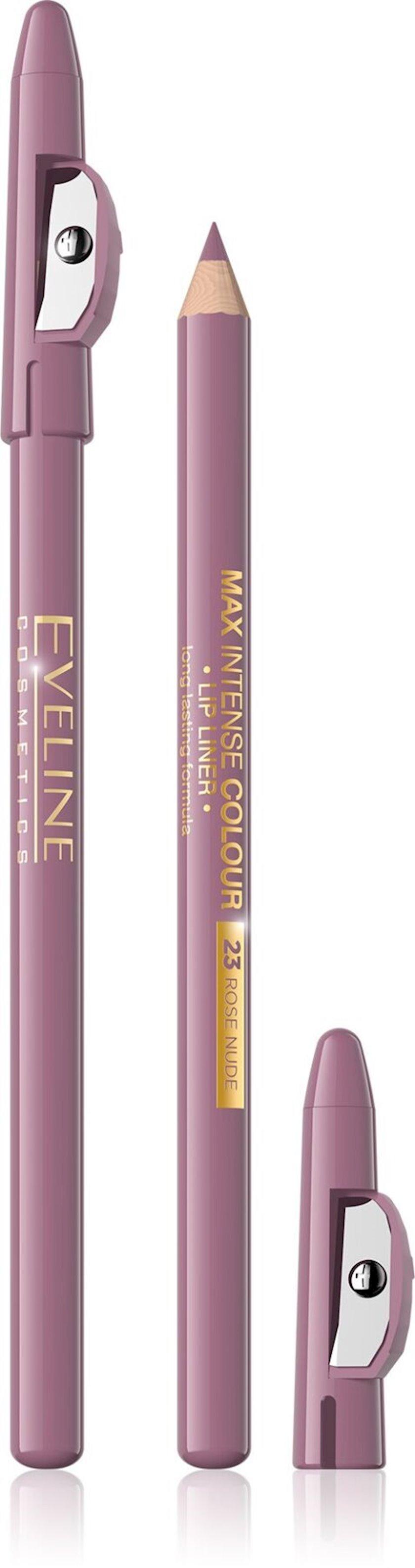 Dodaq layneri Eveline cosmetics Max intense colour №23 Rose Nude