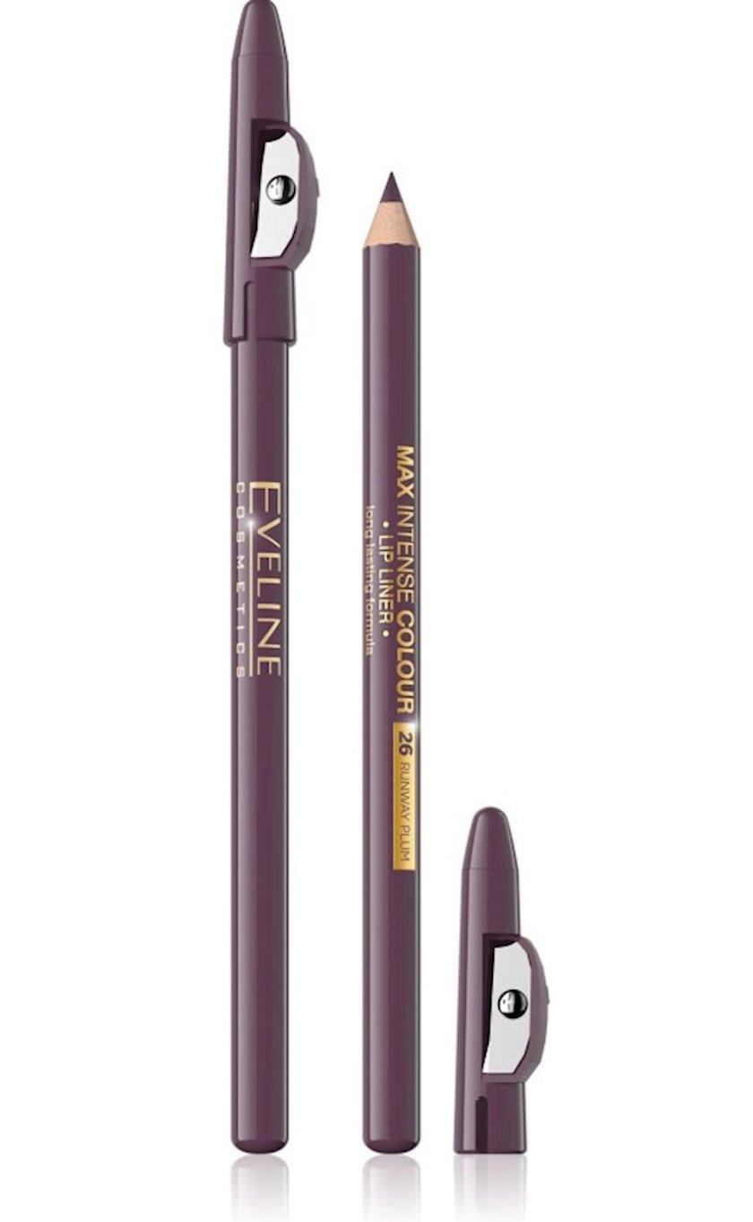 Dodaq layneri Eveline cosmetics Max intense colour №26 Runway Plum