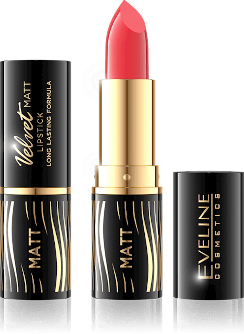 Dodaq üçün pomada Eveline Cosmetics Velvet Matt Lipstick çalar 504