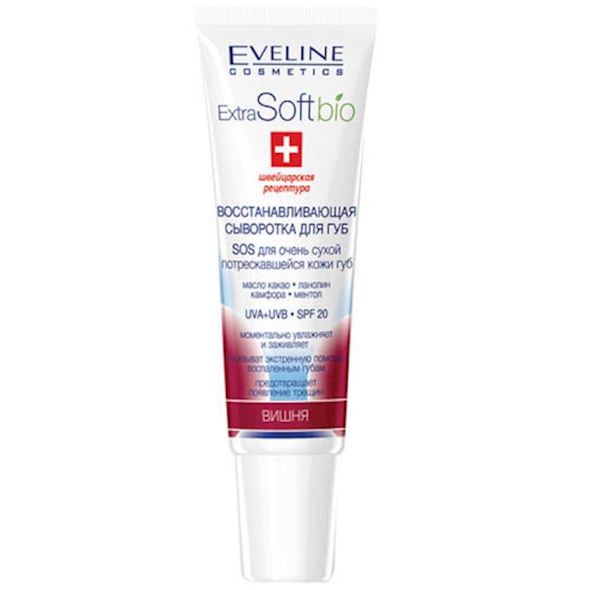 Dodaqlar üçün zərdab Eveline Cosmetics Extra Soft canlandırıcı, Albalı