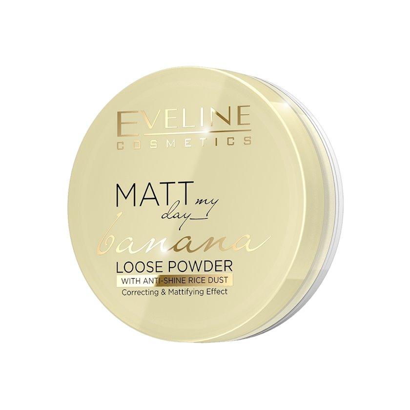 Toz şəffaf kirşan Eveline Cosmetics Matt My Day Loose Powder Banana 6 q