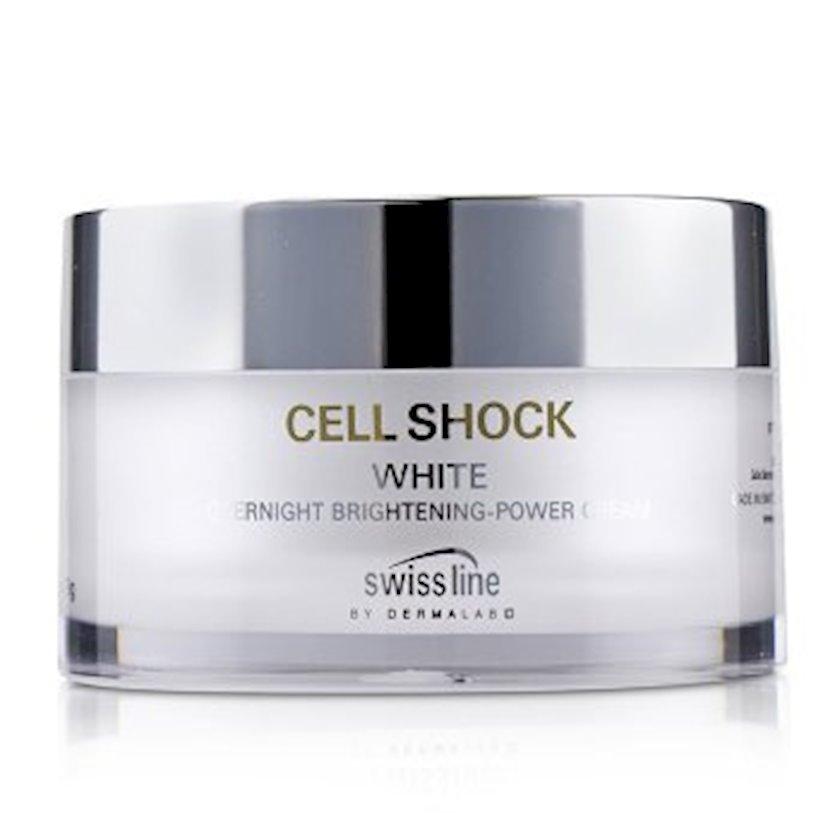 Gecə parladıcı kremi  Swissline Cell Shock White