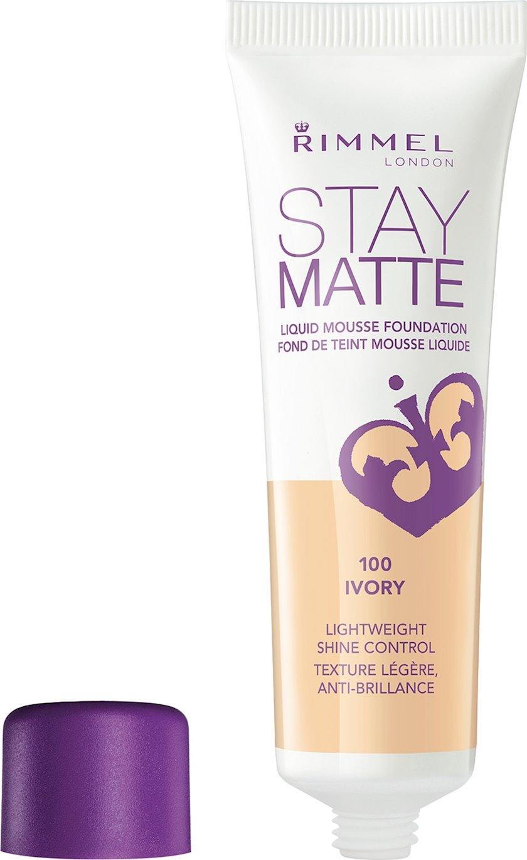 Tonal krem Rimmel Stay Matte Liquid Mousse Foundation ton 100 Ivory 30 ml