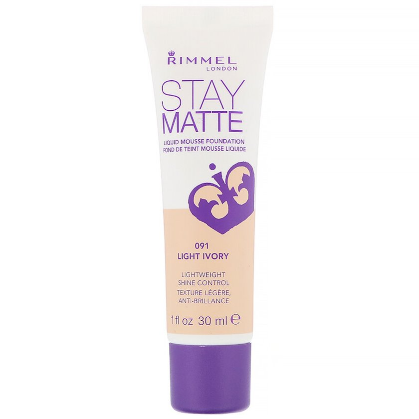 Tonal krem Rimmel Stay Matte Liquid Mousse Foundation  ton 091 Light Ivory 30 ml