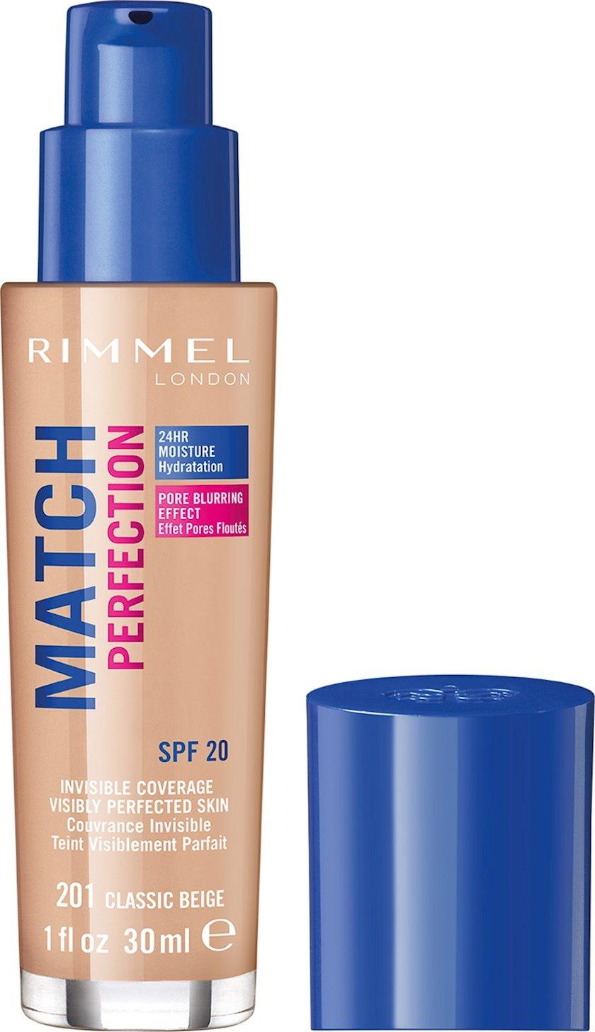 Tonal krem Rimmel Match Perfection Foundation ton 201 Classic Beige 30 ml