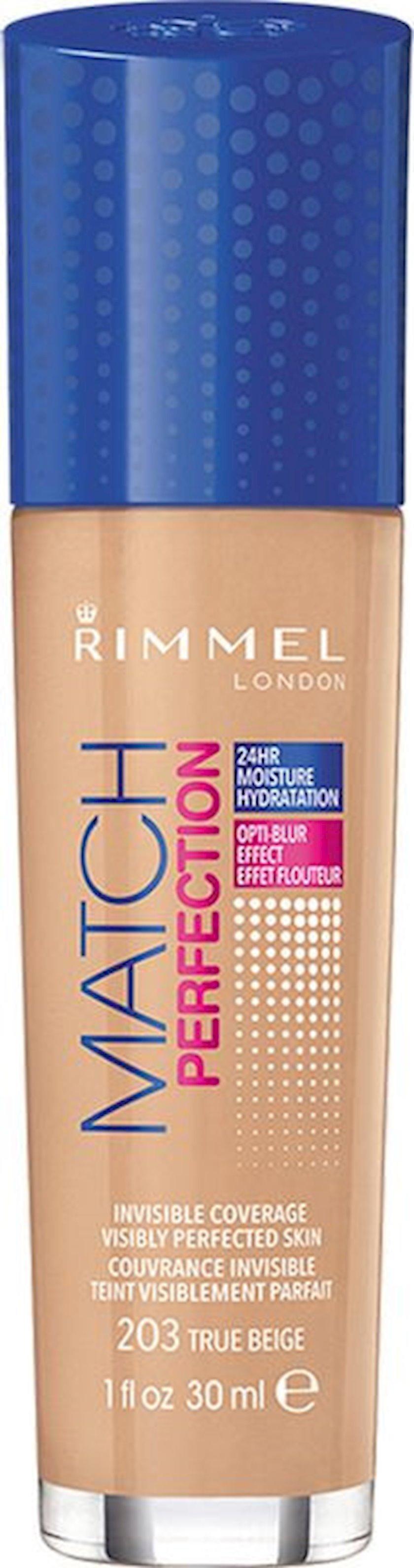 Tonal krem Rimmel Match Perfection Foundation ton 203 True Beige 30 ml
