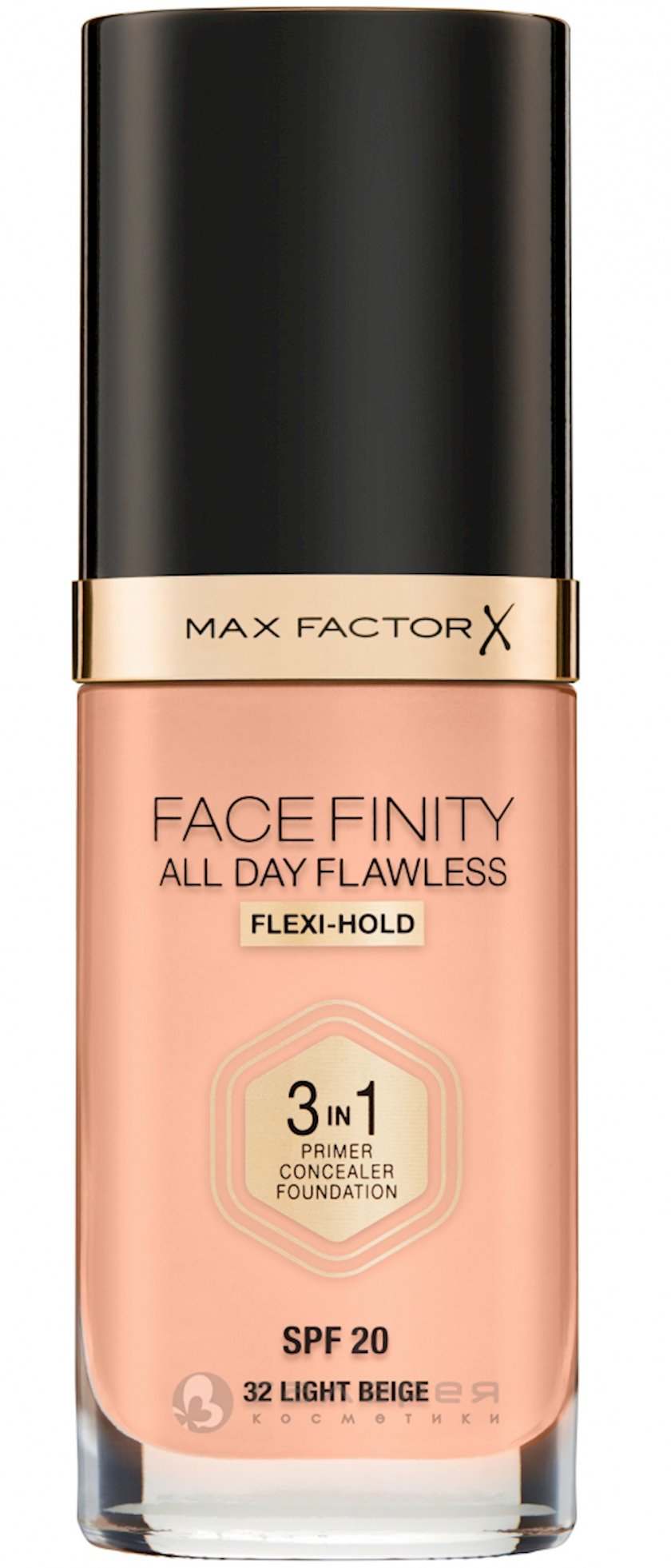 Tonal baza Max Factor Facefinity All Day Flawless 3-in-1 SPF20 ton 32 Light Beige 30 ml