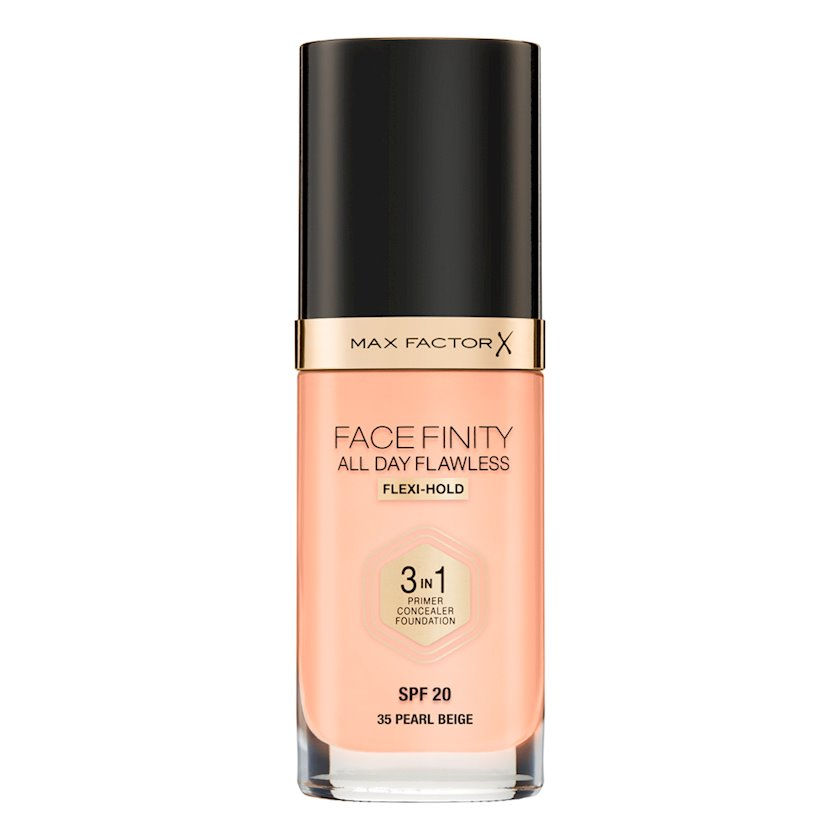 Tonal baza Max Factor Facefinity All Day Flawless 3-in-1 SPF20 ton 35 Pearl Beige 30 ml