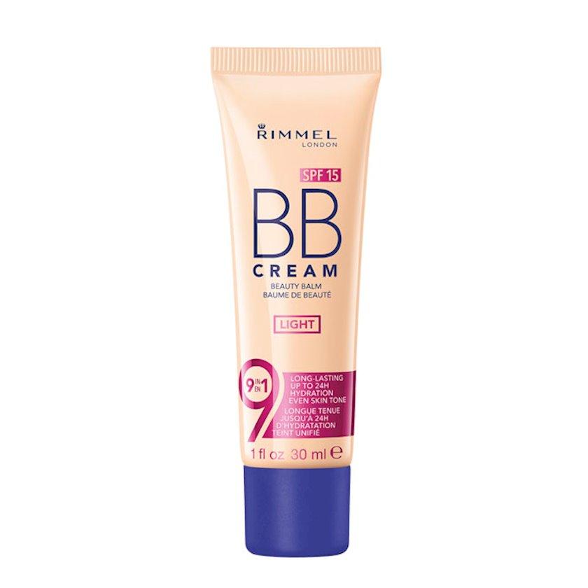 BB-krem Rimmel 9-1-də Skin Perfecting Super Makeup SPF15 ton 001 Light 30 ml