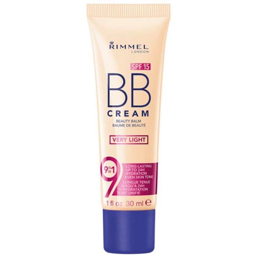 BB-krem Rimmel BB Cream 9-in-1 Skin Perfecting Super Makeup SPF 15 Very Light 30ml
