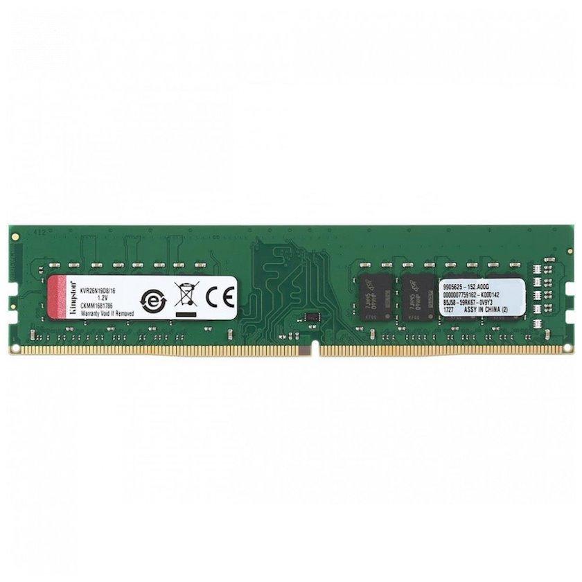 Operativ yaddaş Kingston DDR4 16Gb 2666 MHz pc-21300 (KVR26N19D8/16)