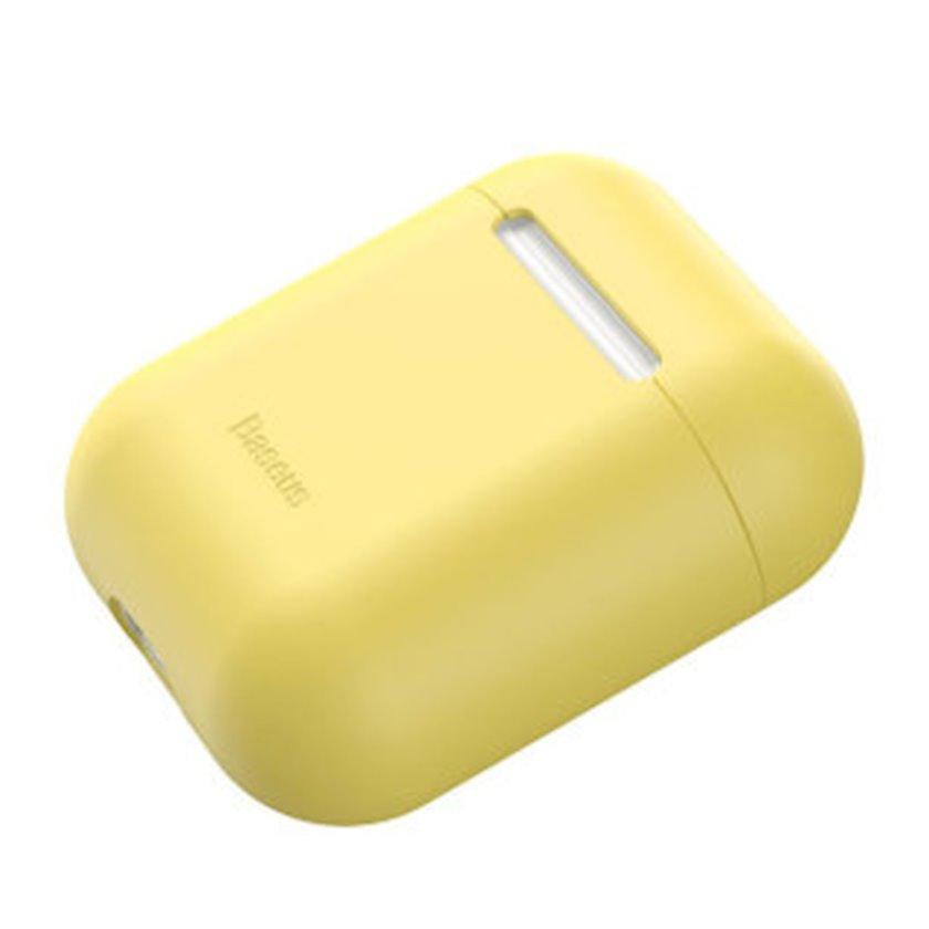 Çexol ultrathin gel protect yellow WIAPPOD-BZOG Apple airpods 1, 2 üçün