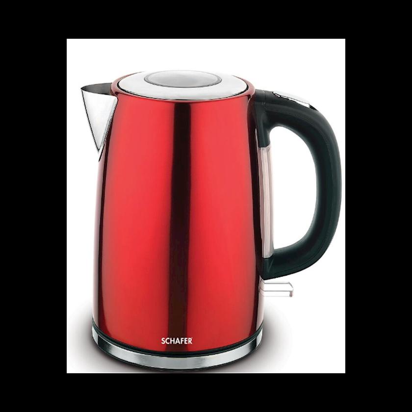 Elektrik çaydan Schafer, qırmızı