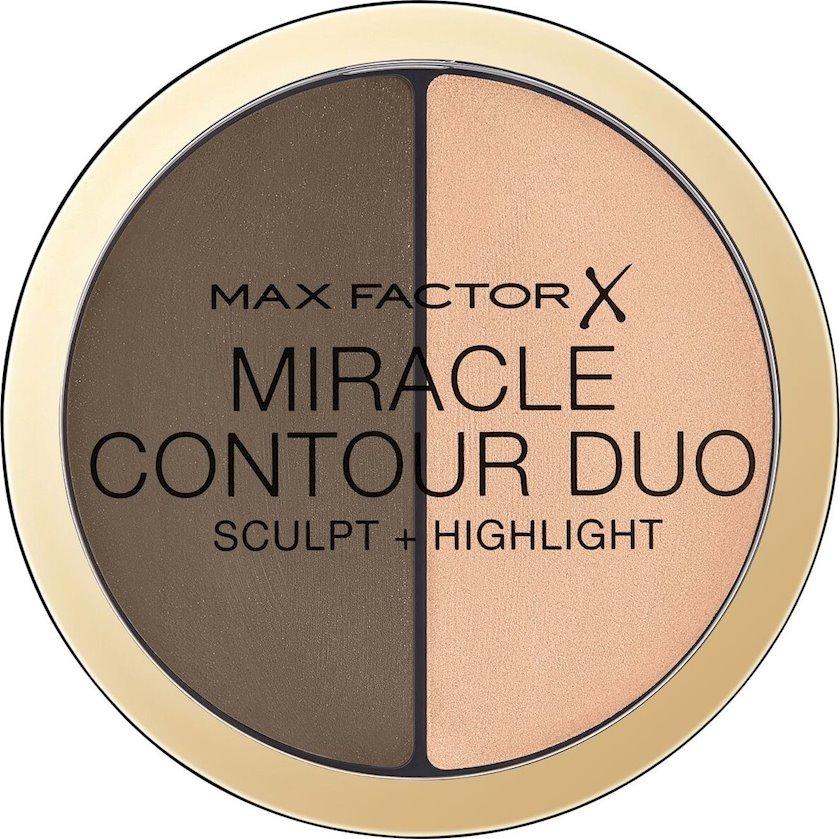 Üz üçün skulptor paletkası Max Factor Miracle Contour Duo Medium Deep 11q