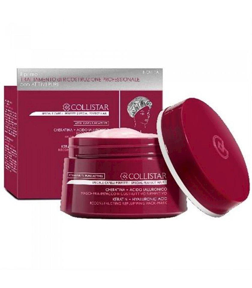 Canlandırıcı saç maskası Collistar PURE ACTIVES KERATIN + HYALURONIC ACID REPLUMPING MASK 200 ml