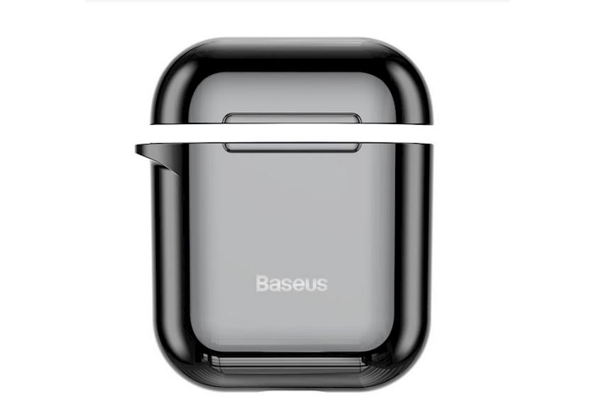 Çexol qulaqlıqlar üçün Baseus Shining Hook Case Apple Airpods 1/2 Black.