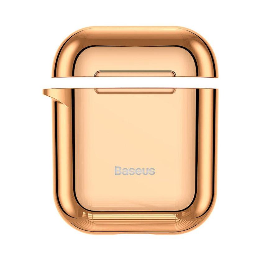 Çexol qulaqlıqlar üçün Baseus Shining Hook Case Apple Airpods 1/2 Gold