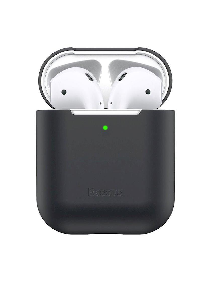 Çexol qulaqlıqlar üçün Baseus Ultrathin Apple Airpods 1/2 Black