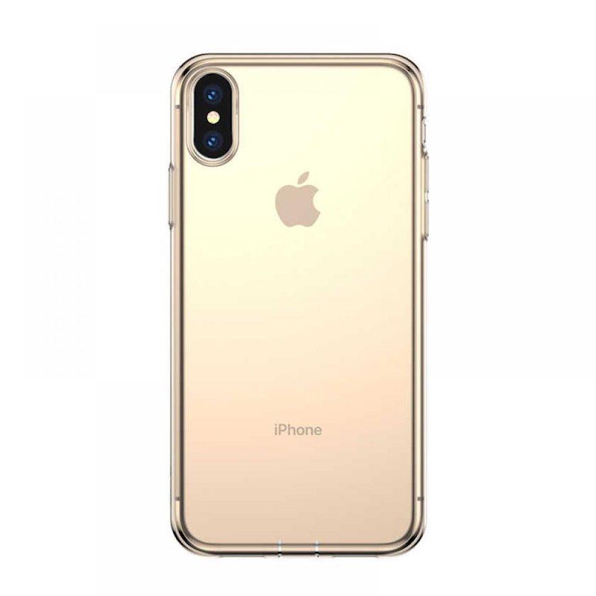 Çexol Baseus Simple Series Apple iPhone X/XS üçün Transparent Gold