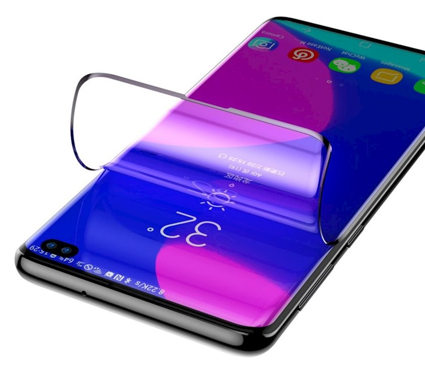 Qoruyucu şüşə Baseus 0.15 mm curved Sgsas10p-ks01 Samsung Galaxy S10 Plus üçün, anti-göy