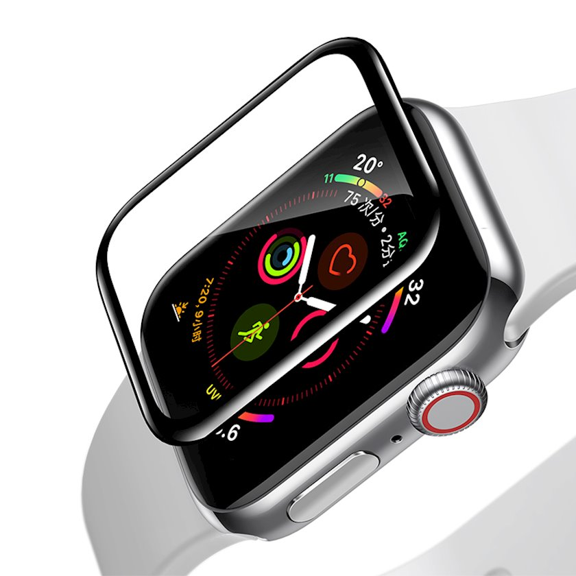 Qoruyucu şüşə Baseus Full-screen curved tempered glass soft screen protector Sgapwa4-h01 0.2 mm Apple Watch 44 mm 4/5/6 üçün