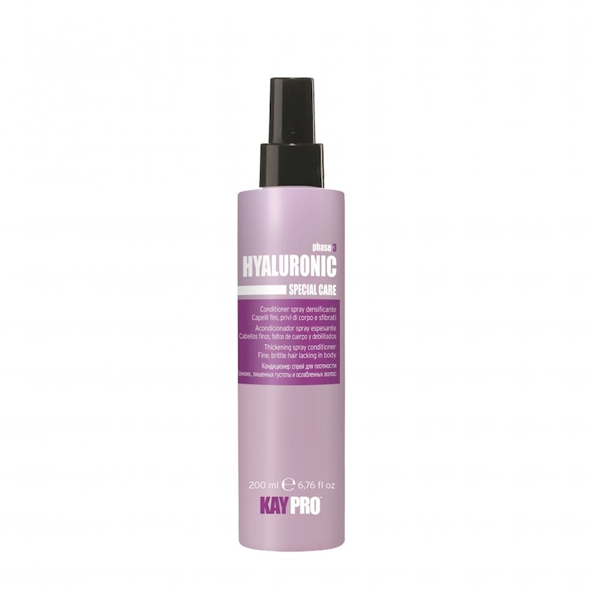 KayPro Hyaluronic Conditioner-saç sıxlığı üçün hialuron turşusu ilə sprey, 200 ml