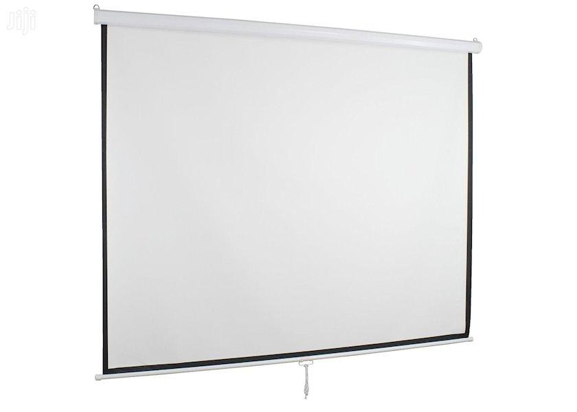 """Proyektor üçün ekran Cyber Manual Screen (79""""x79"""") 200x200 sm"""