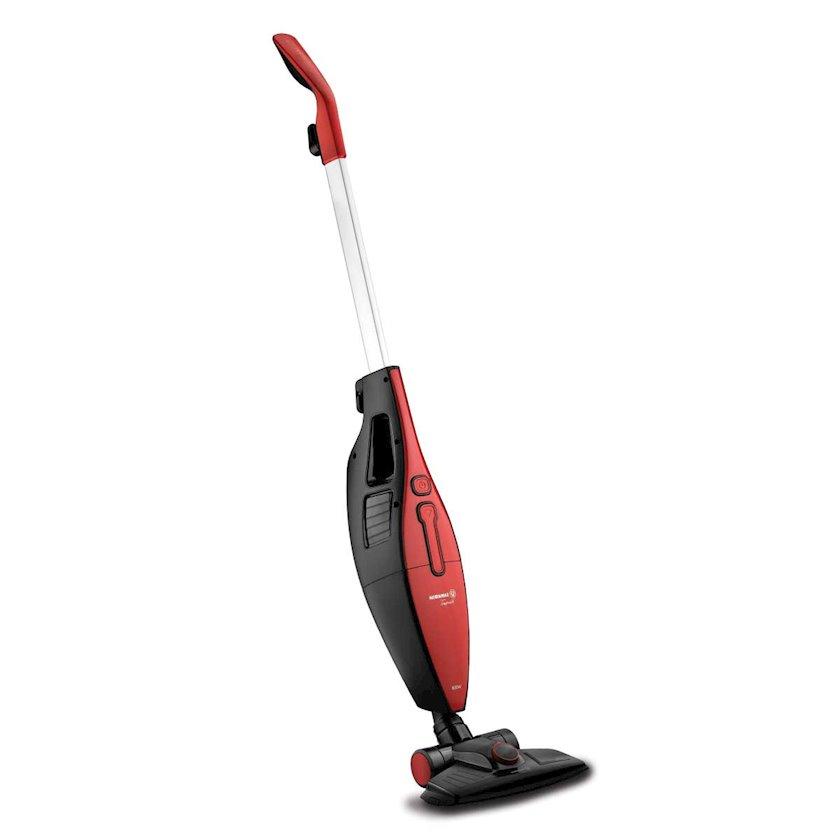 Vertikal tozsoran Korkmaz A920 Tempratik Vacuum Cleaner, qırmızı-qara